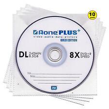 10x auno de doble capa DVD + R DL Gold Edition 8X 8.5 GB disco de la marca en las mangas NUEVO