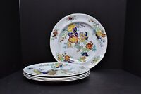 """SET 5 SPODE COPELAND New Stone W26 Floral Dinner Plates Gray 10.25"""" butterfly"""