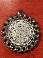 1844 Commemorative Medallion Medal Pendant Visit Louis Philippe & Queen Victoria