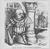 BENJAMIN BUTLER FE FO FI FUM I SMELL THE BLOOD OF AN ENGLISHMAN BY THOMAS NAST