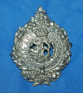 Military Army Regimental Cap Badge with Lugs - Argyll and Sutherland Regiment
