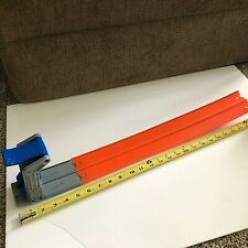 """Hot Wheels  Push Starter Double Race Track With 20"""" Double Orange Track"""