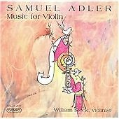 Various Artists Samuel Adler - Violin Works CD