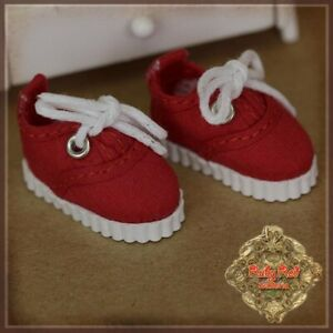 HH0062B Yu Ping Red Sneakers RUBY RED GALLERIA DOLL SHOES YU PING KISH RILEY