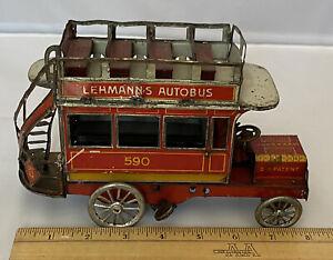 Antique 1907 Lehmann's 590 Tin Litho Windup Autobus