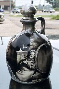 Lenox CAC Porcelain Wine Jug Decanter Gorham Sterling Silver Overlay