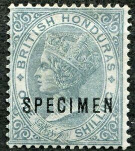 British Honduras 1882 issue, 1s Grey, SPECIMEN, SG 22s, No Gum, CV £75