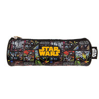 Star Wars Pencil Case Tube Pouch School Boys Black