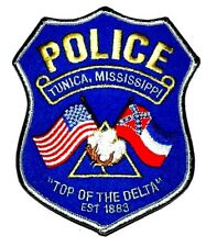TUNICA MISSISSIPPI MS Sheriff Police Patch TOP OF DELTA COTTON BOLL FLAG ~