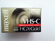 Maxell VHS-C 3 pack NEW HGX-Gold