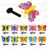 6 Butterfly Key Launchers - Pinata Toy Loot/Party Bag Fillers Wedding/Kids Girls