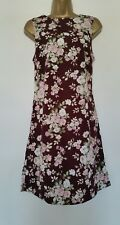 Alice & You Tall Ladies Size 8 Pretty Floral Maroon Dress Good Clean Condition