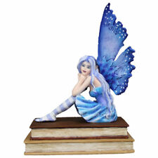 2018 Amy Brown Fairies Book Muse Fairy Dragon Collectible Figurine New Blue Fair