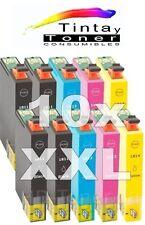 10 tintas COMPATIBLES NON OEM T18 XL para Epson Expression Home XP-325 XP322