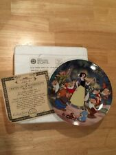 Disney Treasured Moments Plate #2 Snow White Mib Coa Knowles/Bradford