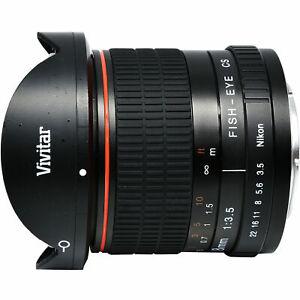 Vivitar 8mm f/3.5 Fisheye Lens (for Nikon Cameras)