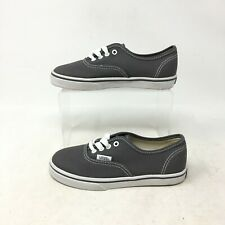 NEW Vans Authentic Lo Pro Pewter Low Casual Shoes Lace Up Canvas Grey Kids 11.5
