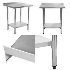 """Restaurant Kitchen Backsplash 24"""" x 30"""" stainless steel work prep table with backsplash kitchen"""