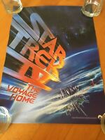 """Star Trek The Voyage Home Promotional Home Video Poster 1986 13.5""""x18.5"""""""