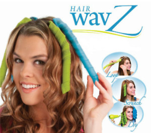 New Hair Wavz Curling Set Perfect Waves Style Wand Guide Natural Styling System
