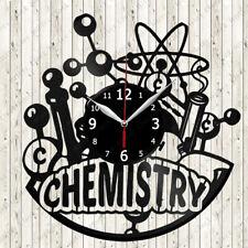 Chemisty Vinyl Record Wall Clock Decor Handmade 2579