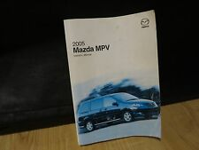 2005   MAZDA MPV   OWNERS MANUAL BOOK