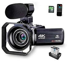 4K Camcorder Vlogging Camera for YouTube 48MP HD Digital Camera with 16X