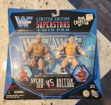 🔥WWE WCW ECW WWF JAKKS TWIN PAK: SYCHO SID VICIOUS VS. BRITISH BULLDOG 🔥