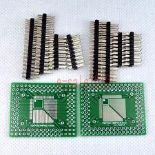 5pcs QFP/TQFP/LQFP/FQFP 32/44/64/80/100 to DIP Adapter PCB Board Converter E16