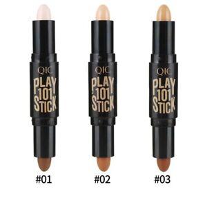 Dual Ended Cream Contour Stick Bronzer Illuminating Highlighter MakeUp Crayon UK