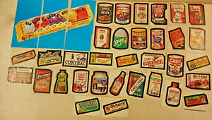 Vintage Topps Wacky Packages 7th Series Complete With Puzzle 1974
