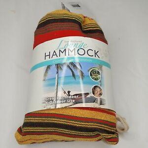 """Lounge Hammock Indoor / Outdoor Tree Anchored Hammock 78"""" X 31"""" Up to 280 Lbs"""