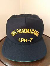 Vintage Us Navy Uss Guadalcanal Lph-7 New Era Ball Cap