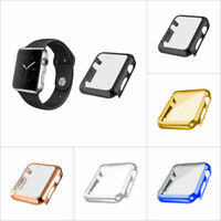 Metallic FULL SCREEN Protector Case Cover for Apple Watch Series 1 2 3 38mm 42mm