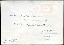 Cyprus 1989 Air Mail Machine Cancel Cover To Italy #C17172