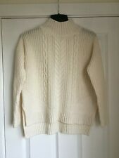 New look Cream Knitted Long Sleeved Jumper Size 10