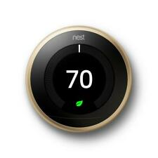 Google Nest Learning Thermostat 3rd Gen Smart Thermostat (Brass) T3032US