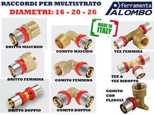 RACCORDO PER TUBO MULTISTRATO PRESSARE PINZARE  D.16-20-26 PER 1/2-3/4 POLLICE