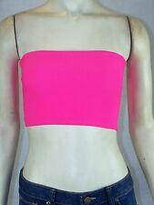 Icon Apparel Neon Pink Bra Bralette Stretch Juniors Size Medium Large 9 11 NEW