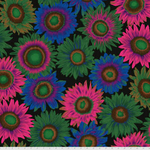 Kaffe Fassett Collective Philip Jacobs Van Gogh-Dark Lge Scale Floral Fabric BTY
