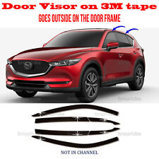 3M Tape Smoke Door Window Vent Visor Deflector ⭐6pcs⭐ fits 2017-2020 Mazda CX-5