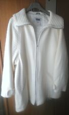 Woman new quilted cream coat size Large
