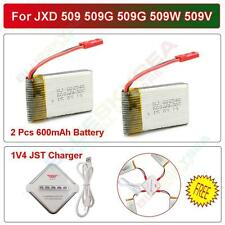US STOCK! 2pcs 3.7V 600mAh Battery+4in1 Charger for JXD 509 509W 509G RC Drone