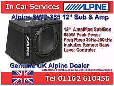 "Alpine SWD-355 Car 12"" Active Amplified Subwoofer Box 650W"