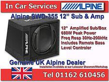 """ALPINE swd-355 AUTO 12 """"Active SUBWOOFER AMPLIFICATO BOX 650W"""