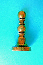 "ANTIQUE SOLID  BRASS CHESS PAWN DESIGN WAX LETTER SEAL,,INITIAL ""O"""