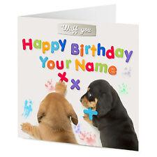 Personalizado Dachshund Perro Cachorro Feliz Cumpleaños tarjeta de mensaje en nevera Imán