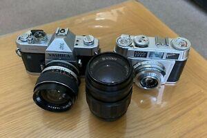 Vintage Yashica TL ELECTRO X SLR Film Camera + Franka Super Frankarette 45mm