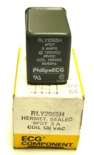 NEW PHILIPS ECG RLY2065H RELAY HERMET.SEALED 4PDT 5 A COIL 120 VAC