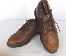 Nike Golf Zoom Air Size 8.5 Wickie Last Brown Leather Lace-Up Golf Shoes